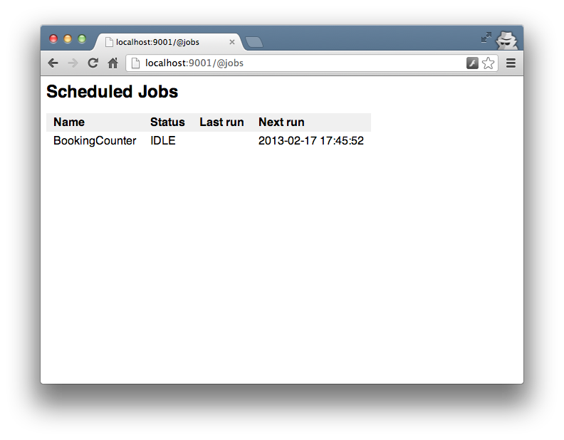Schedules Jobs | Revel - A Web Application Framework for Go!